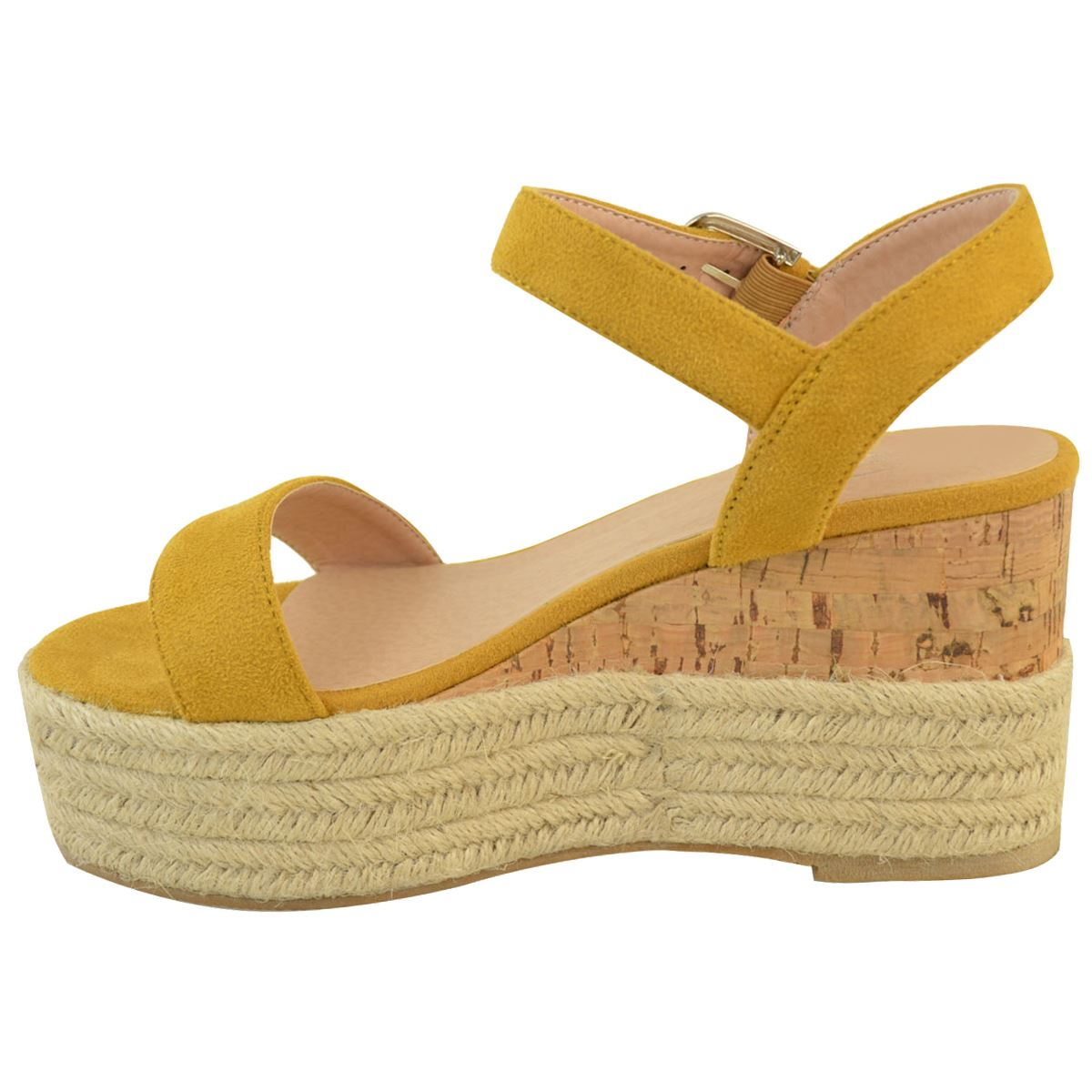 Womens-Ladies-Summer-Platform-Ankle-Strappy-Wedges-Open-Toe-Sandals-Shoes-Size thumbnail 7