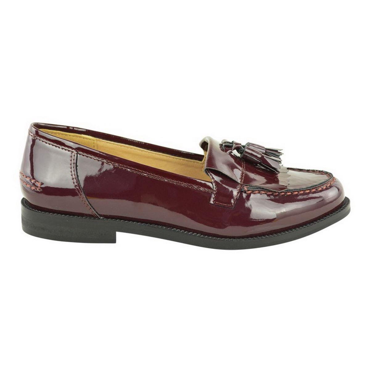 Fashion Thirsty Femmes Mocassins Plats Bureau D/écontract/é Ecole Frange Gland Chaussures Plates