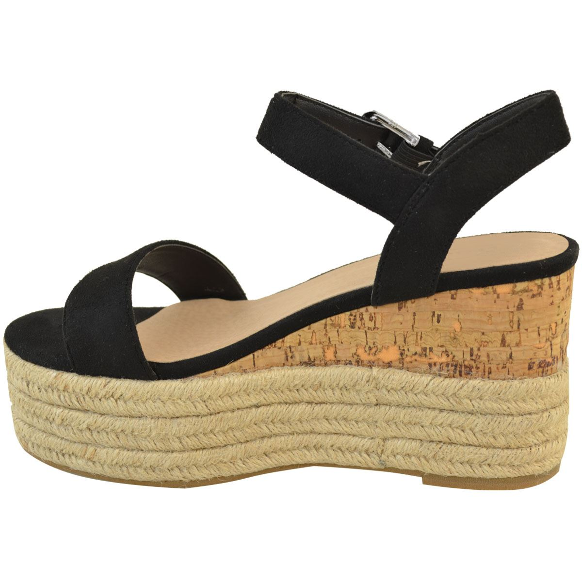 Womens-Ladies-Summer-Platform-Ankle-Strappy-Wedges-Open-Toe-Sandals-Shoes-Size thumbnail 4