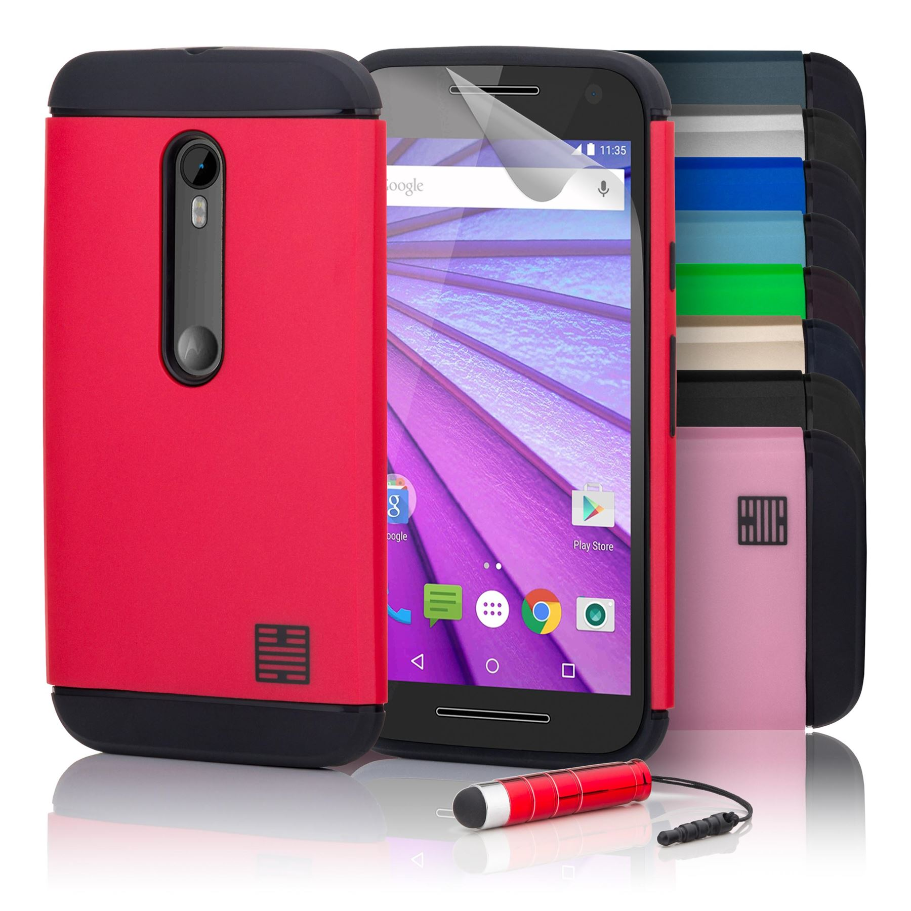 finest selection a925c 3cadc Details about 32nd Slim Armour Series - Dual-Layer Shockproof Case Cover  For Motorola Moto G3