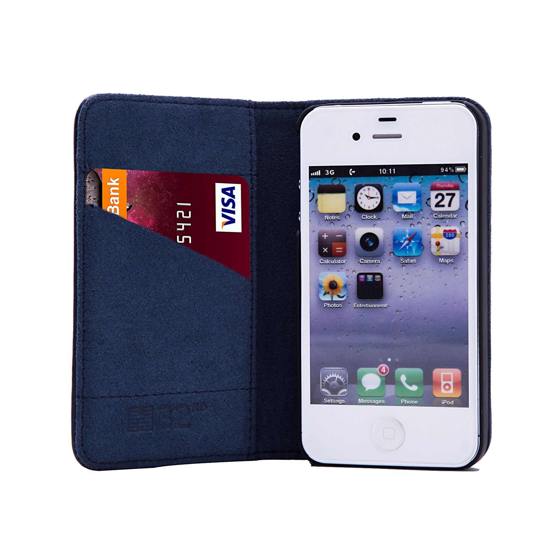 49a5529597 32nd Classic Series - Real Leather Book Wallet Case Cover - Apple ...