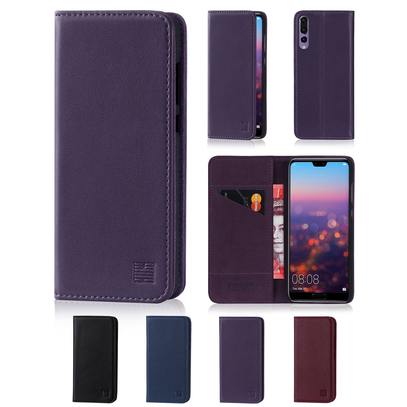 Classic Book Cover Phone Cases : Nd classic series real leather book wallet case cover