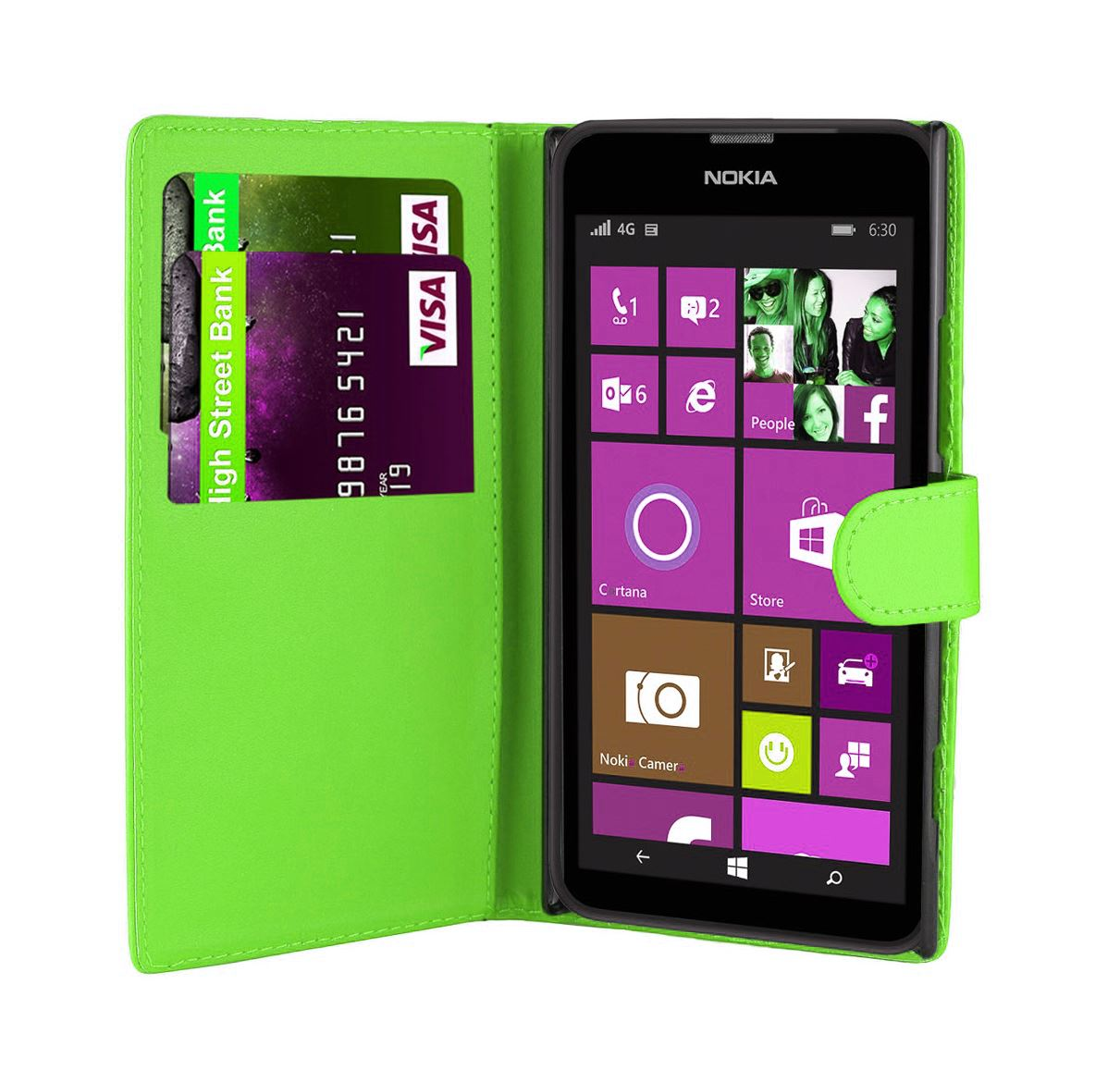 32nd-Book-Series-Synthetic-PU-Leather-Flip-Wallet-Case-Cover-Nokia-Lumia-620 thumbnail 12