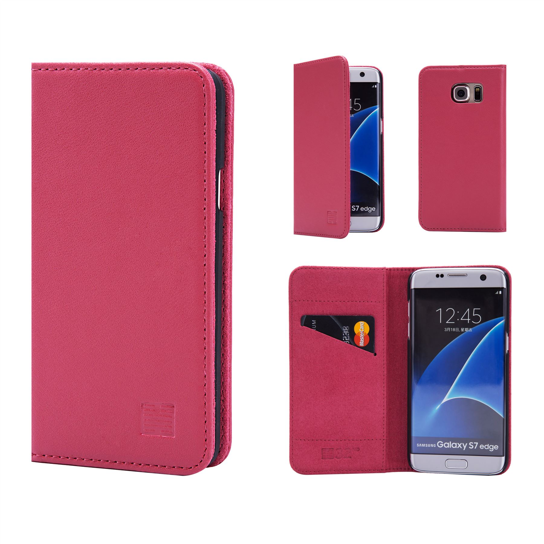 check out 5de05 1f9e0 Samsung Galaxy S7 Edge Leather Wallet Case Designed by 32nd Classic Real and