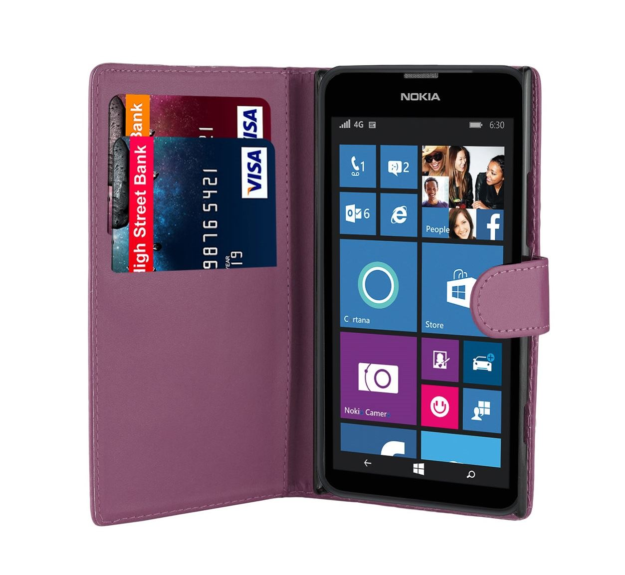 32nd-Book-Series-Synthetic-PU-Leather-Flip-Wallet-Case-Cover-Nokia-Lumia-620 thumbnail 20