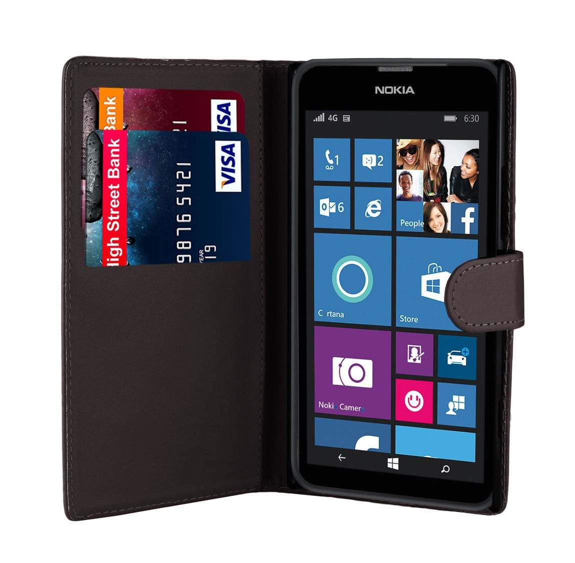 32nd-Book-Series-Synthetic-PU-Leather-Flip-Wallet-Case-Cover-Nokia-Lumia-620 thumbnail 8