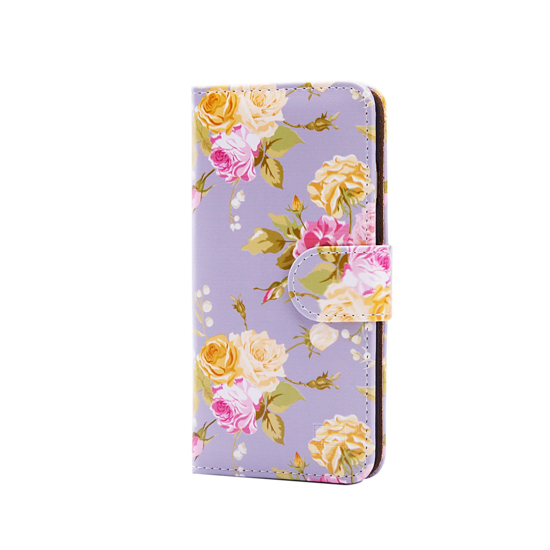 finest selection fb8d4 cb2d1 Details about PU Leather Floral Design Book Wallet Case Cover For Apple  iPhone 6 & 6S