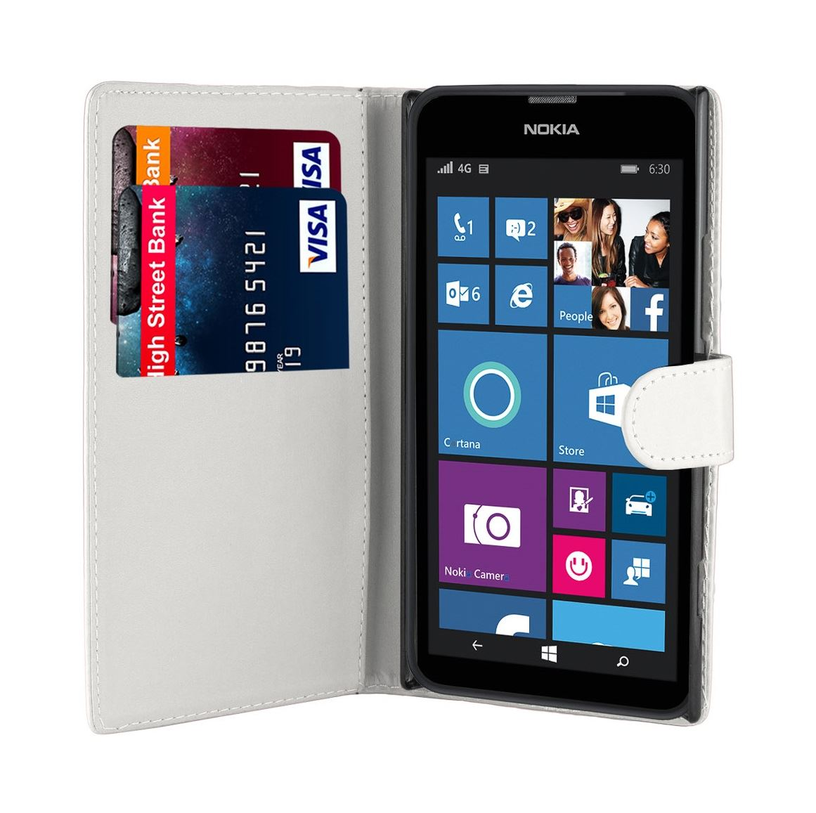 32nd-Book-Series-Synthetic-PU-Leather-Flip-Wallet-Case-Cover-Nokia-Lumia-630 thumbnail 36