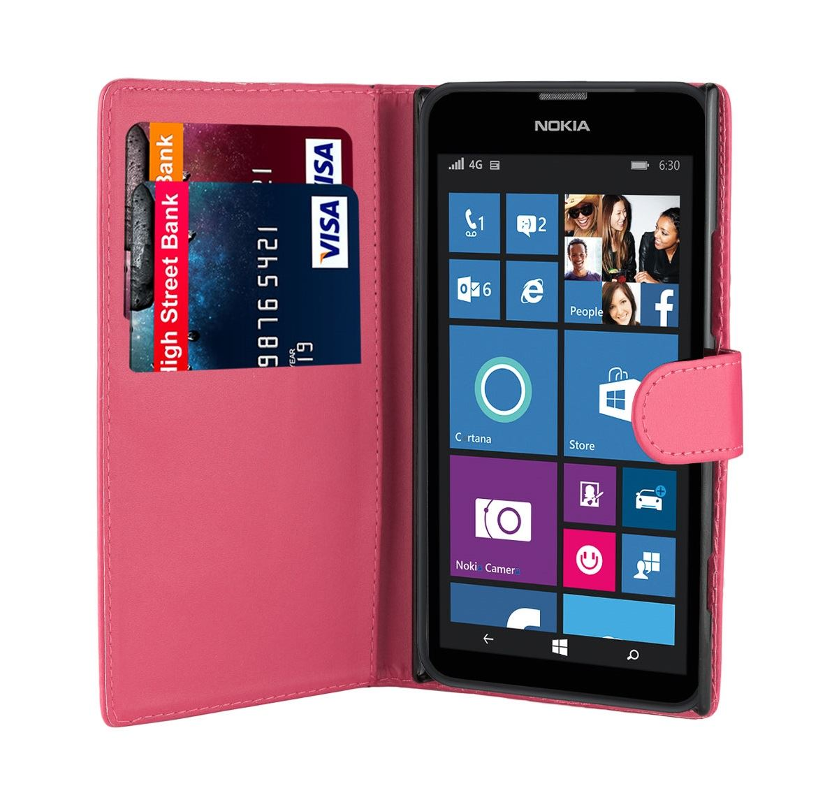 32nd-Book-Series-Synthetic-PU-Leather-Flip-Wallet-Case-Cover-Nokia-Lumia-620 thumbnail 16