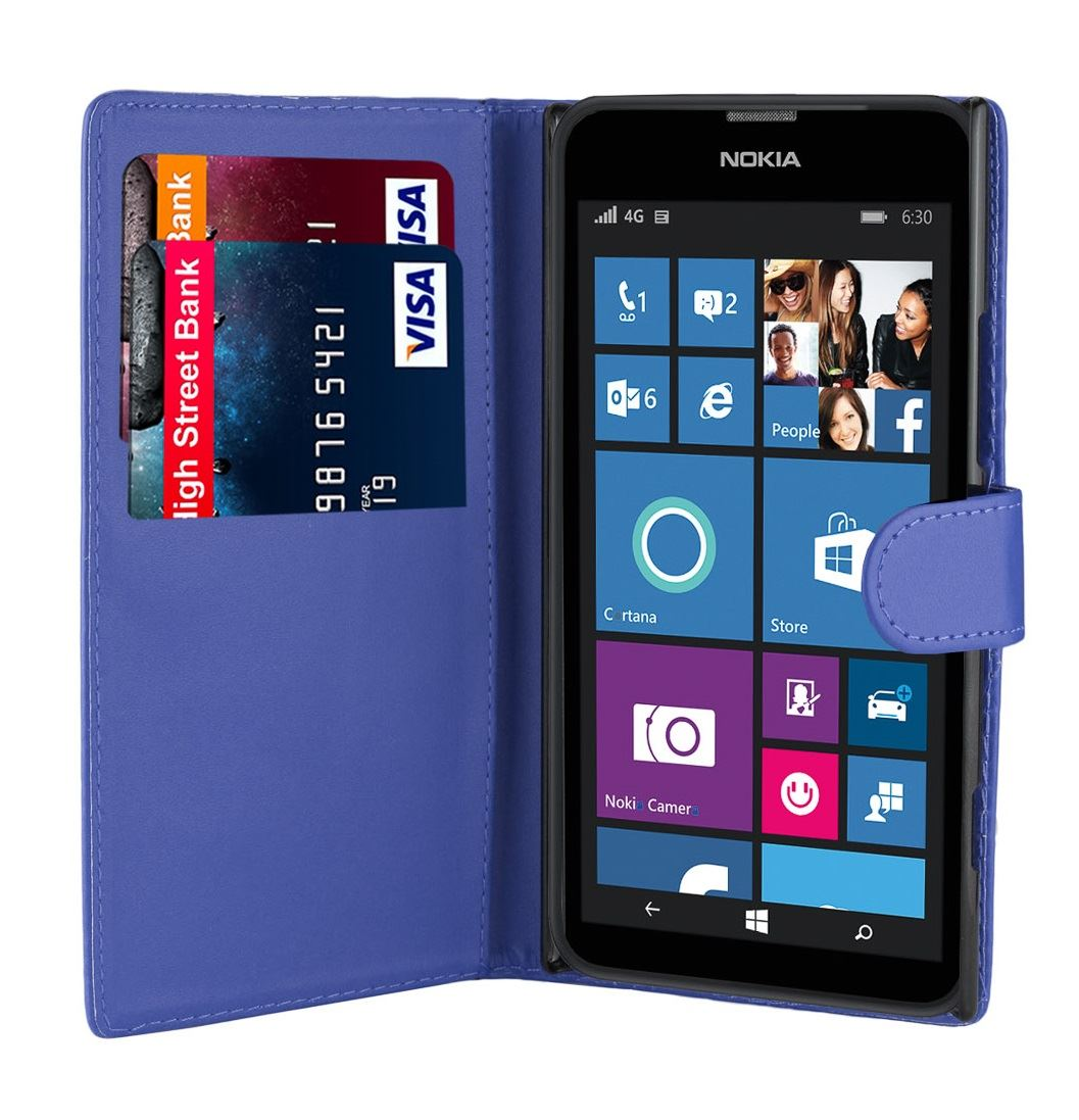 32nd-Book-Series-Synthetic-PU-Leather-Flip-Wallet-Case-Cover-Nokia-Lumia-630 thumbnail 12