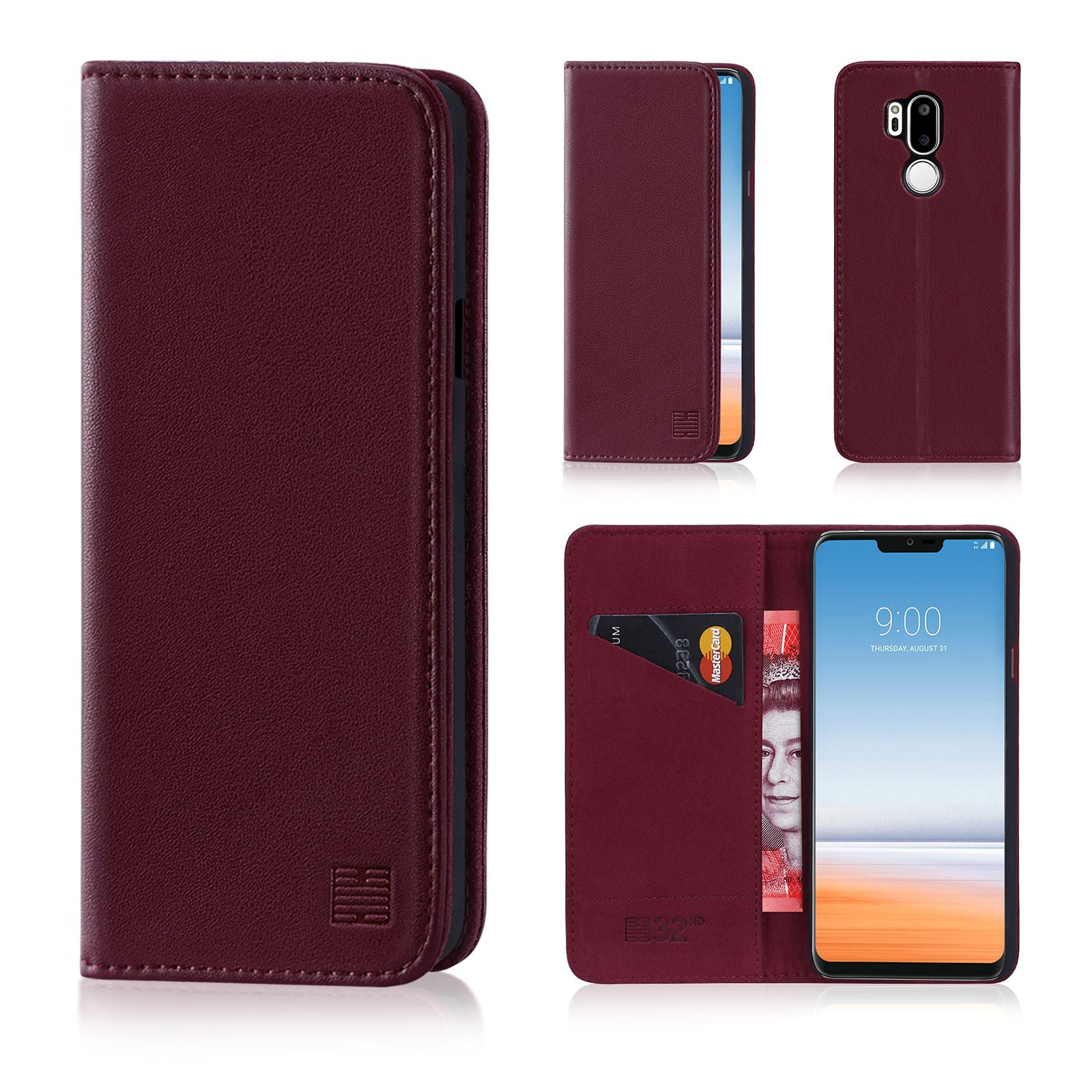 on sale 47435 32681 Details about 32nd Classic Series - Real Leather Book Wallet Case Cover For  LG G7 ThinQ