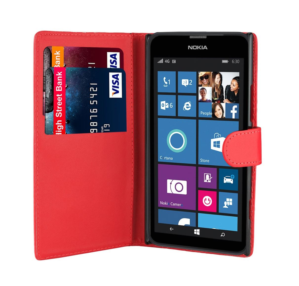 32nd-Book-Series-Synthetic-PU-Leather-Flip-Wallet-Case-Cover-Nokia-Lumia-630 thumbnail 32