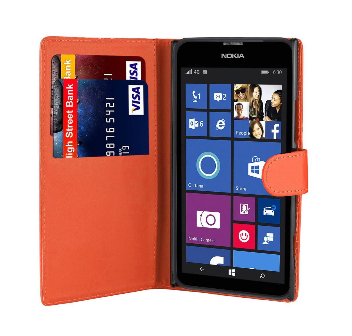 32nd-Book-Series-Synthetic-PU-Leather-Flip-Wallet-Case-Cover-Nokia-Lumia-630 thumbnail 24