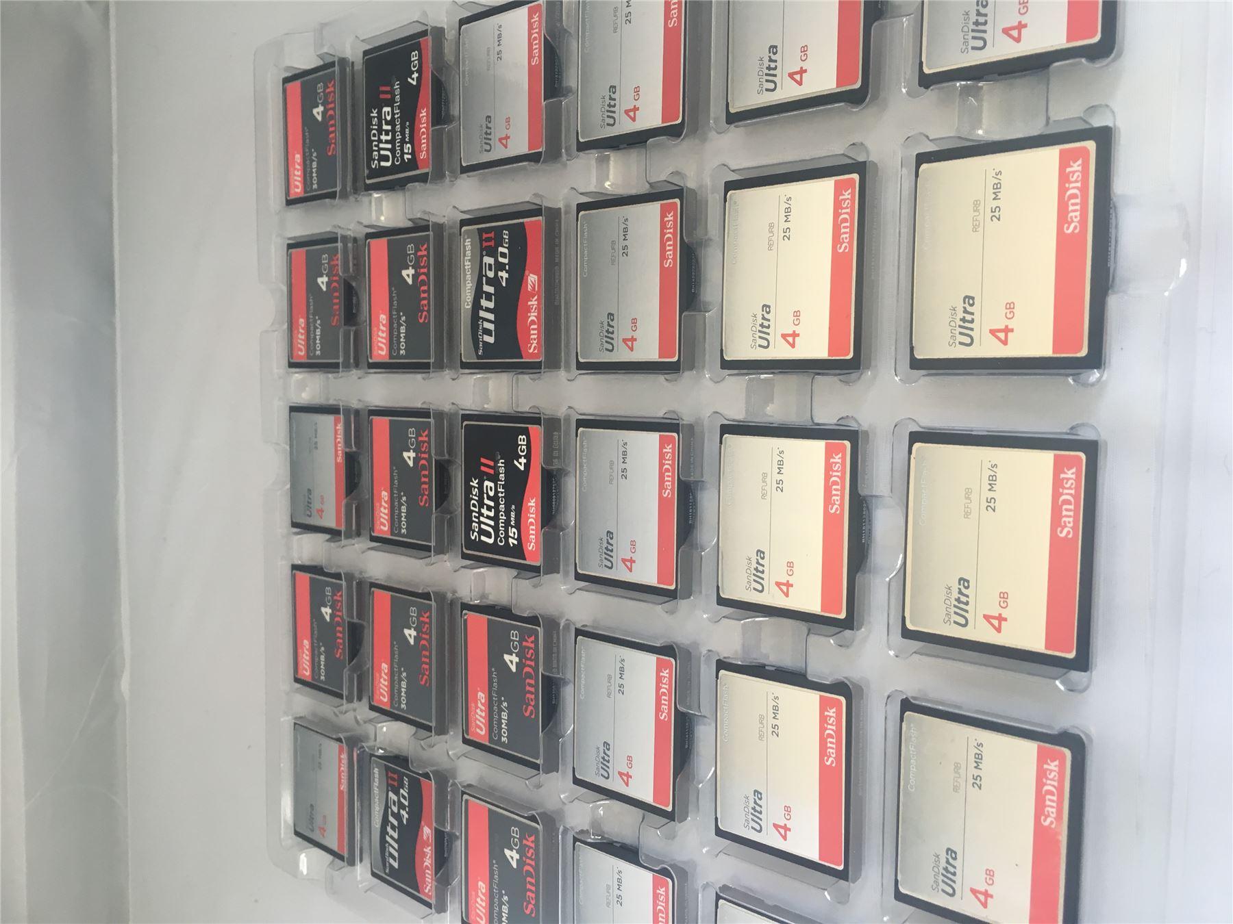 Sandisk 4GB Ultra CompactFlash CF Speicherkarte 25MB S