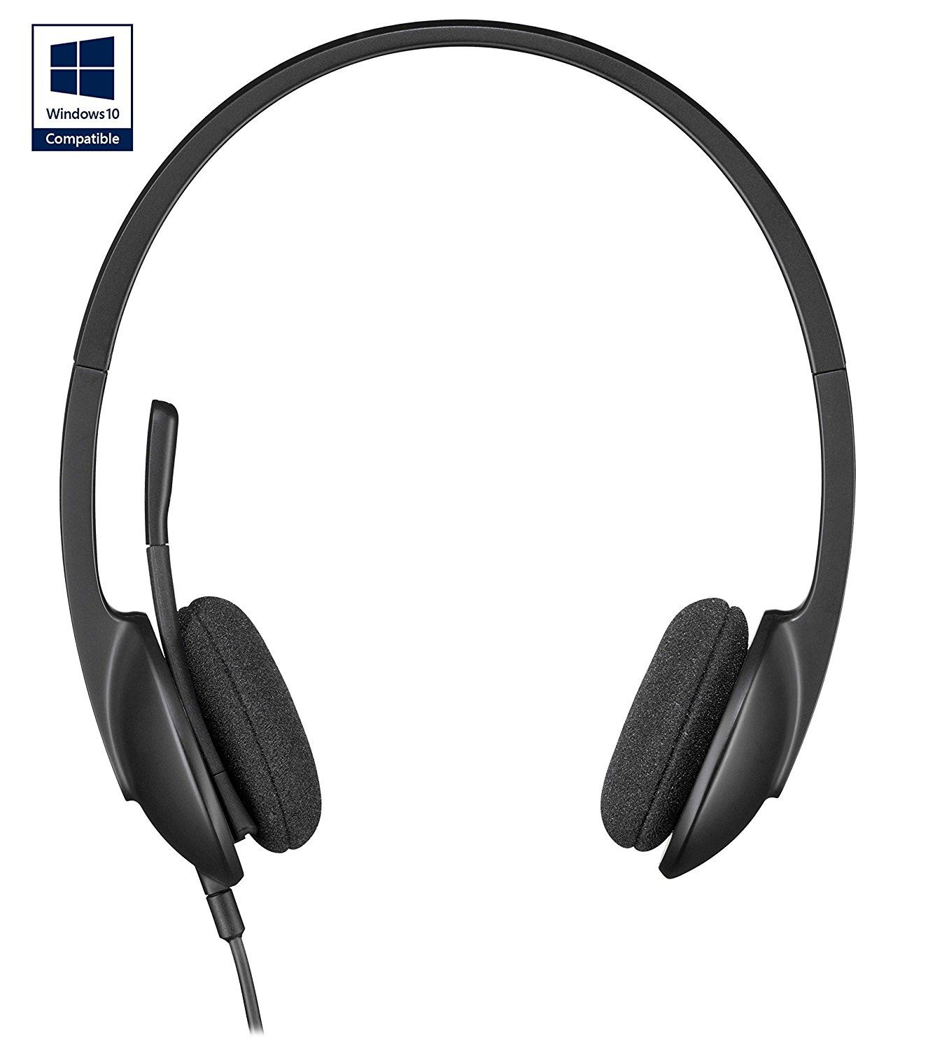 f76ddf29e4f Details about Logitech H340 Headset for Skype, PC and Mac USB Headphones  with mic 981-000475