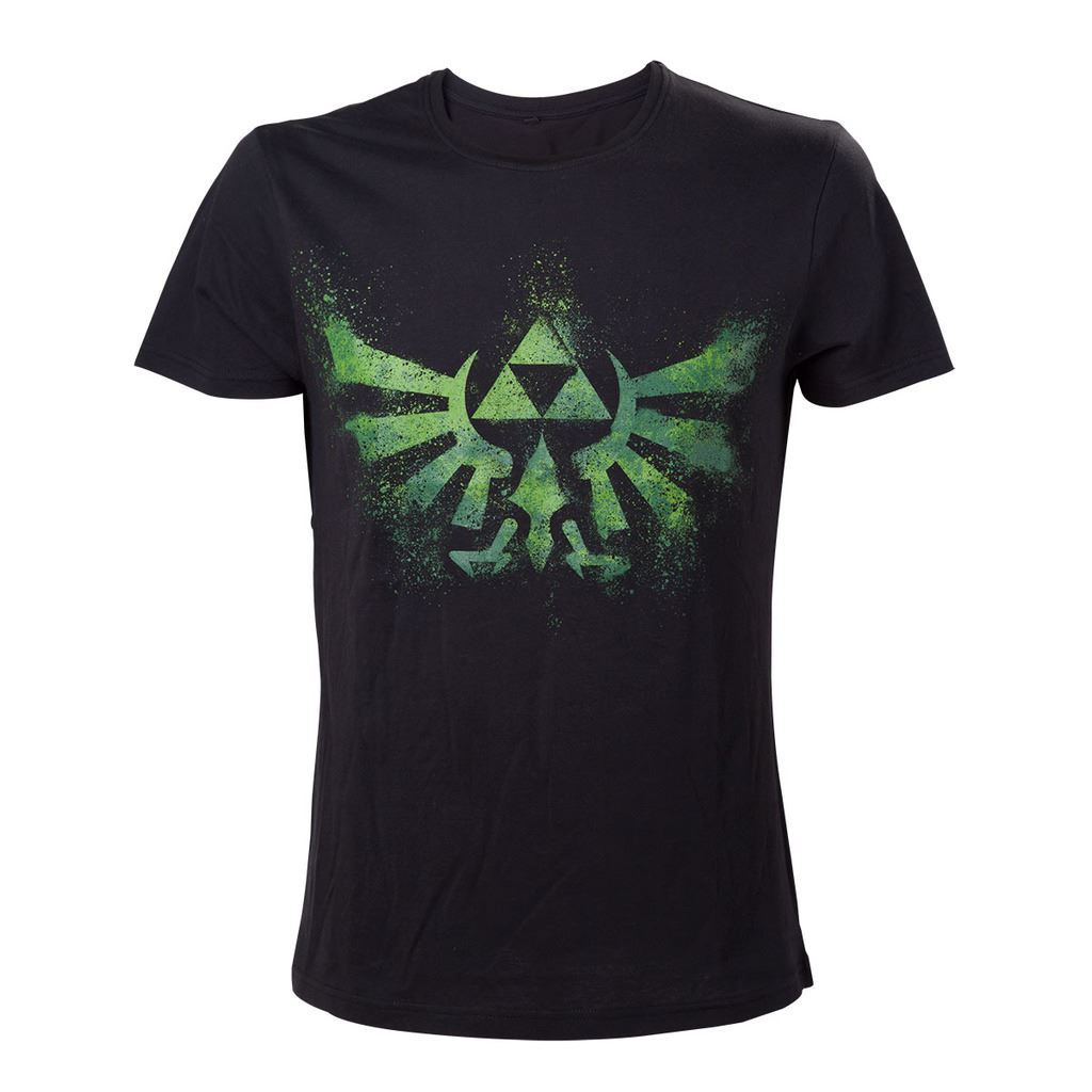 8e677064a Official Legend of Zelda Triforce Logo Black and Green T-Shirt ...