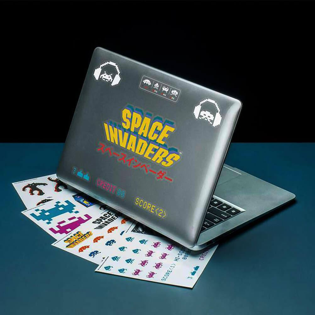 Details about official space invaders gadget decals stickers laptop tablet phone