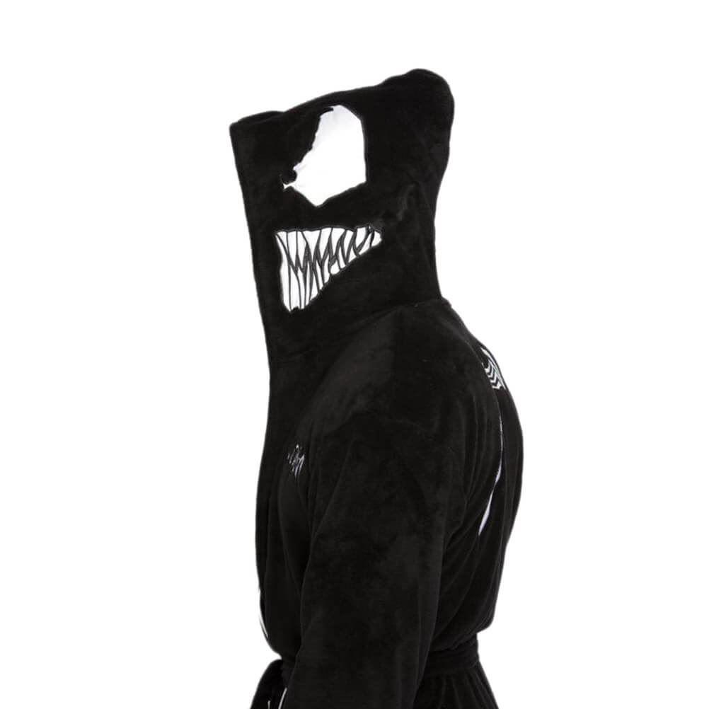 Amichevole Ufficiale Marvel Venom In Felpa Adulto Unisex Vestaglia-taglia Unica-mostra Il Titolo Originale Bianchezza Pura