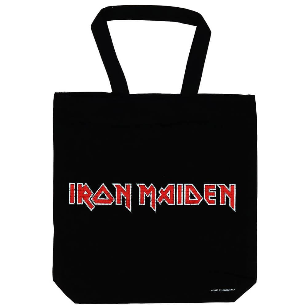 Iron Maiden Tote Bag Eco Shopper Bag Classic Band Logo new Official Black One