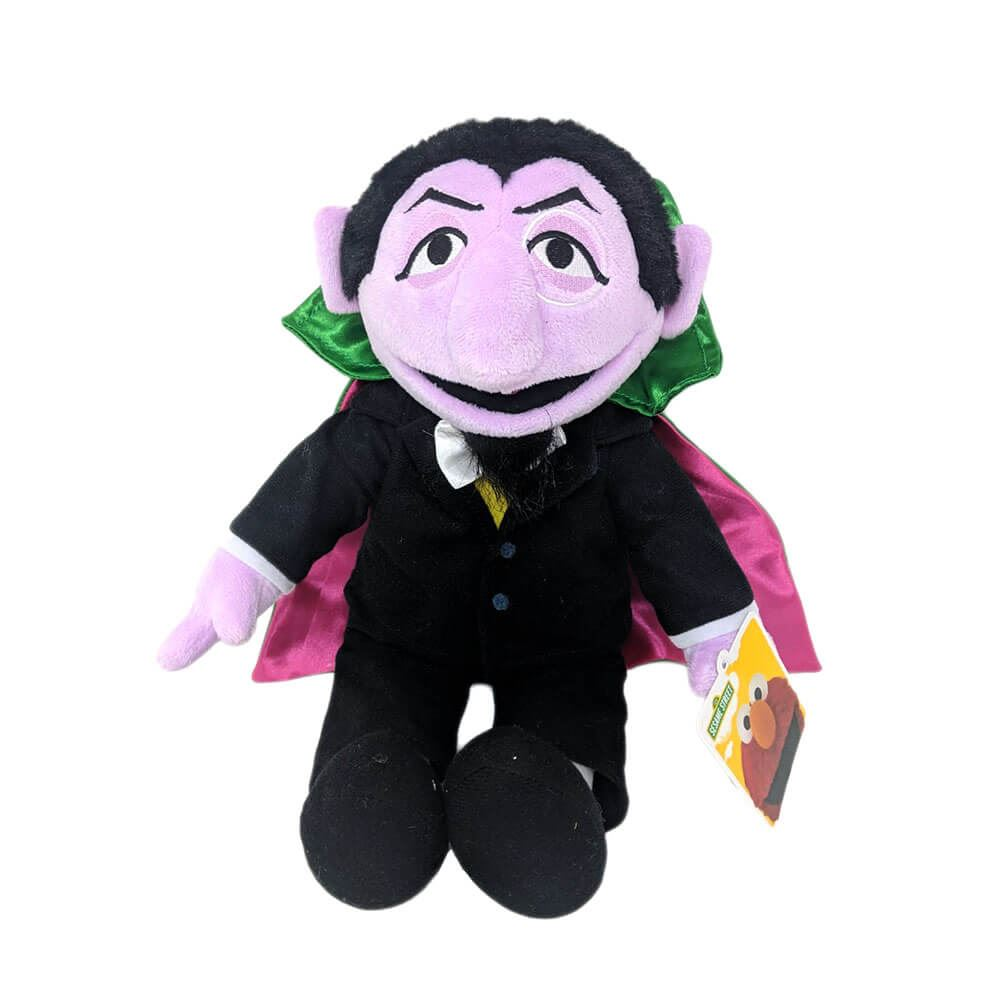 Details About Sesame Street Count Von Count Plush Soft Toy 13 Black Retro Tv Muppets