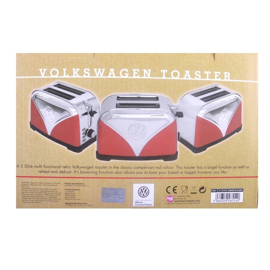 official vw red volkswagen logo design kitchen toaster 2. Black Bedroom Furniture Sets. Home Design Ideas