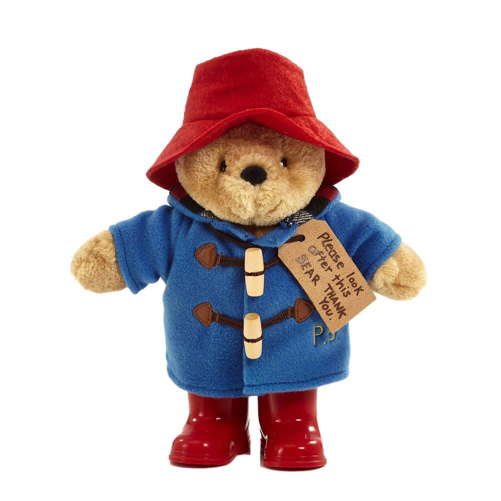 Look After this Bear Classic Paddington Bear Plush Toy with Boots and Tag