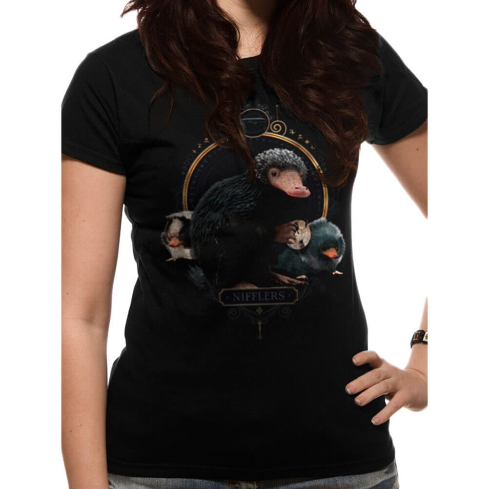 Fantastic Beasts The Crimes Of Grindelwald /'Nifflers/' Womens Fitted T-Shirt