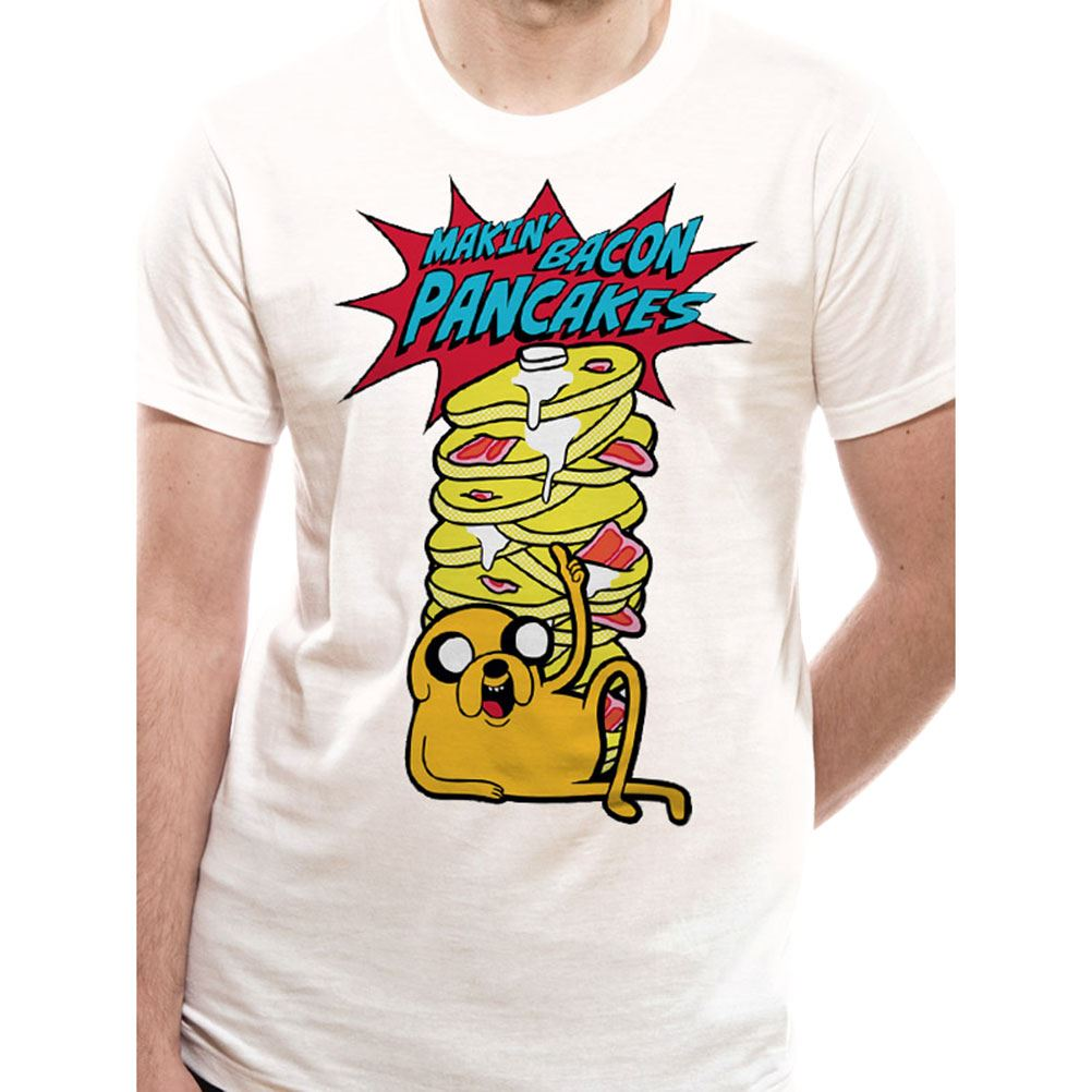 Mens Adventure Time Pancakes White T Shirt Ebay