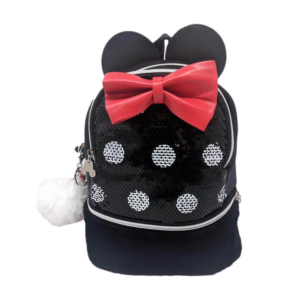 BROKEN ZIP MINNIE MICKEY MOUSE EARS BACKPACK Disney Rucksack White Bag Women