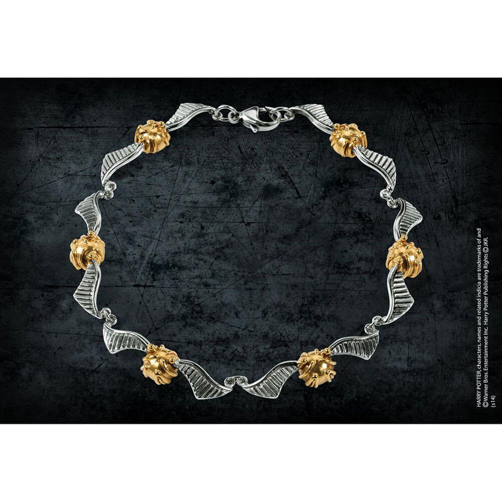 Details zu Harry Potter Sterling Silver Hogwarts Quidditch Golden Snitch Bracelet Boxed