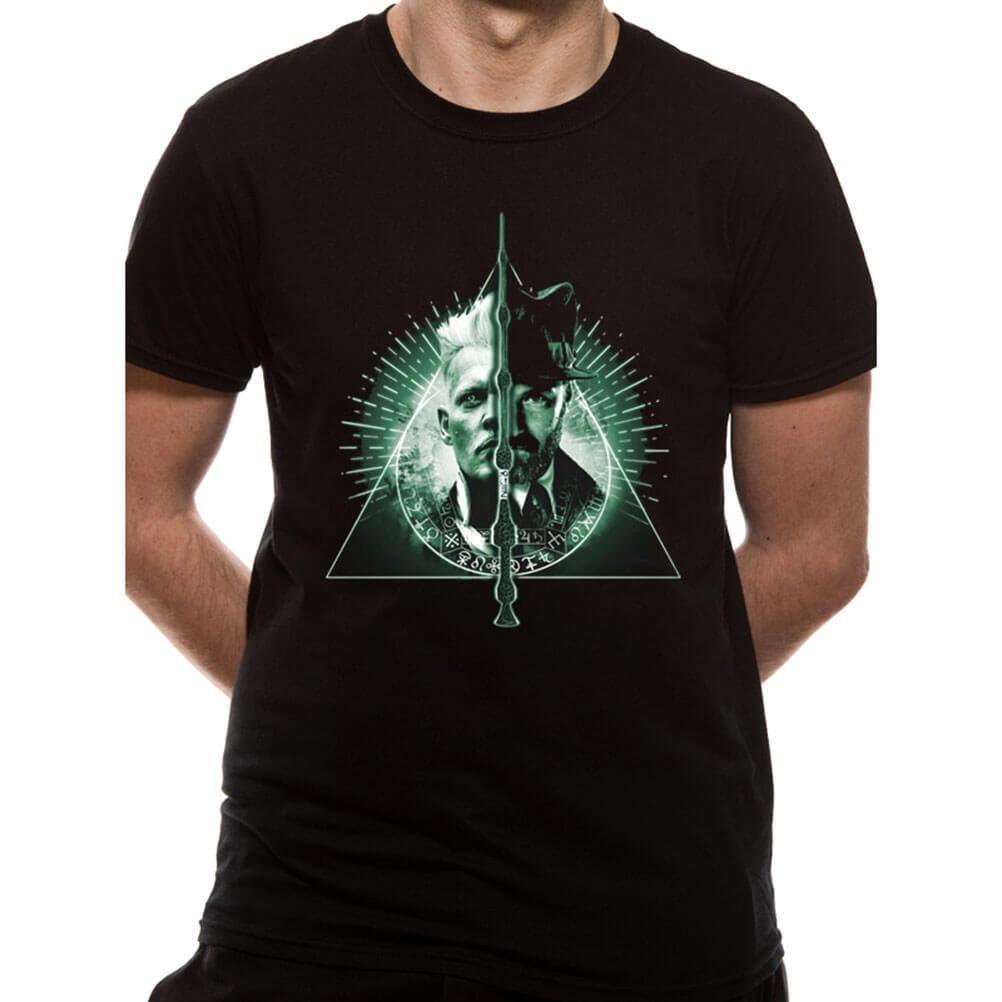 HARRY POTTER Mens Crimes of Grindelwald Ministry Deco Logo T-Shirt