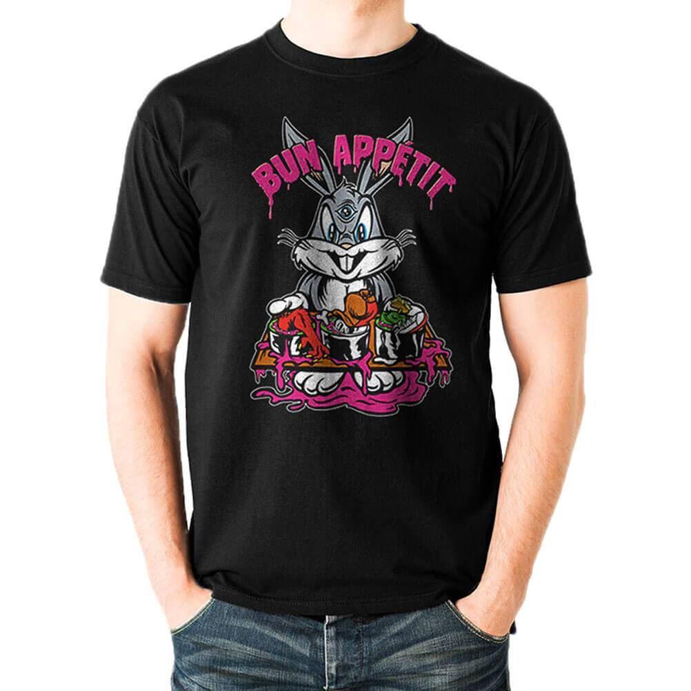 Mens Looney Tunes Wile E Unisex Retro Cartoons Coyote Genius Black T-Shirt