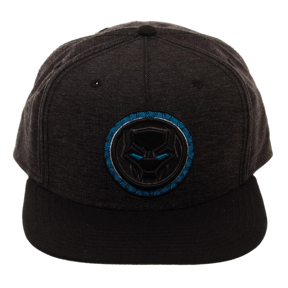 new product efb63 21890 Details about Official Marvel Avengers Black Panther Blue Logo Snapback Cap  Hat - One Size