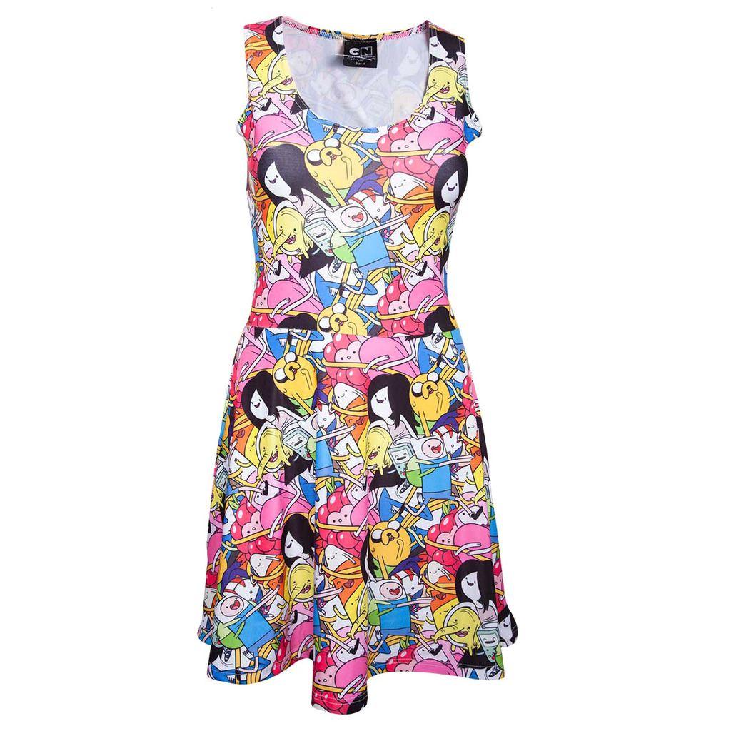 Offiziellen Frauen Mehrfarbig Abenteuer Zeit Finn Jake und Freunde Kleid