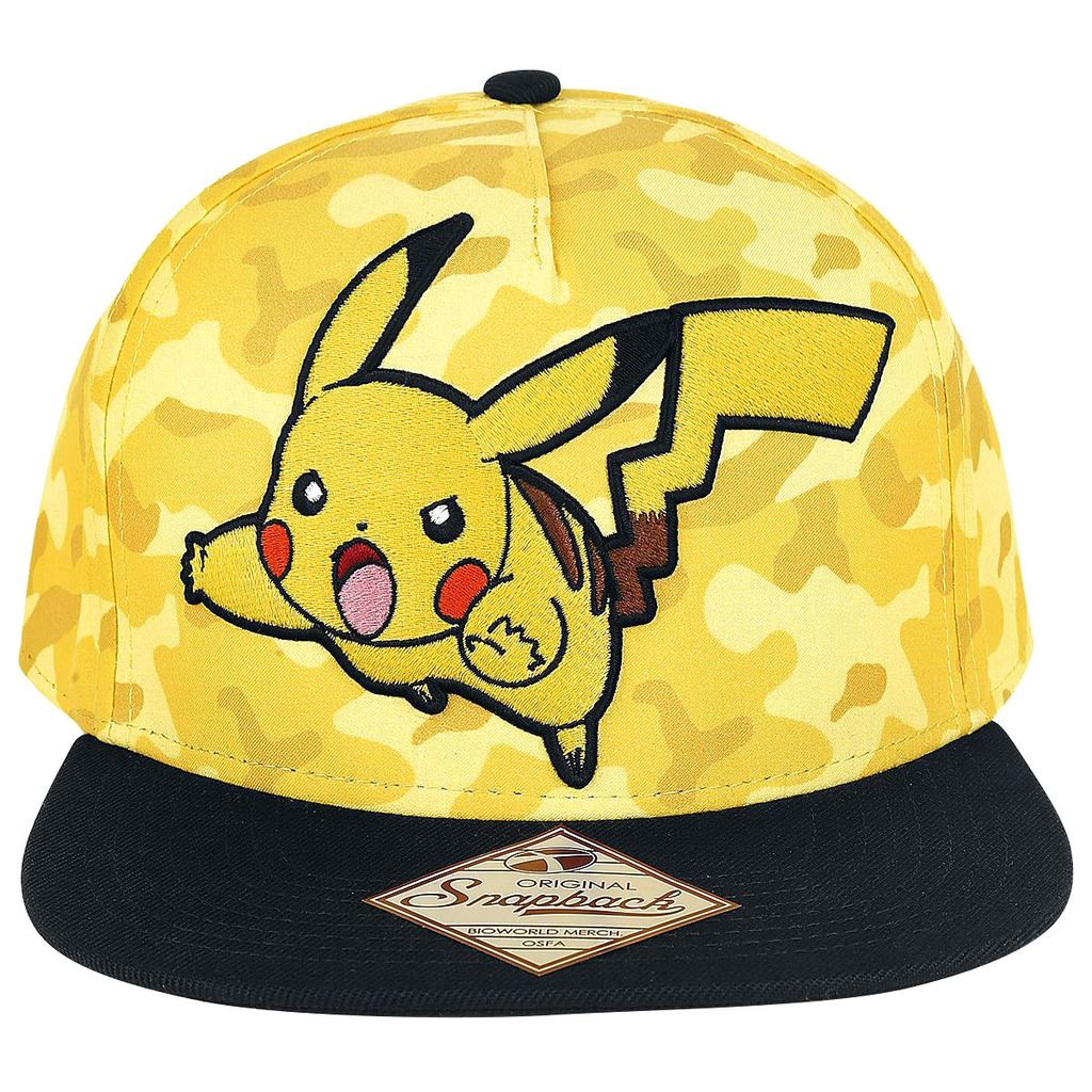 Details about Official Pokemon Pikachu Camo Design Snapback Cap Baseball Hat  - One Size 5284d6a2fa33