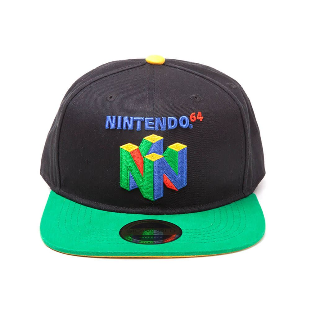 0b9b2f4b392 Details about Official Licensed Nintendo 64 Embroidered Logo Colourful Snapback  Cap Hat