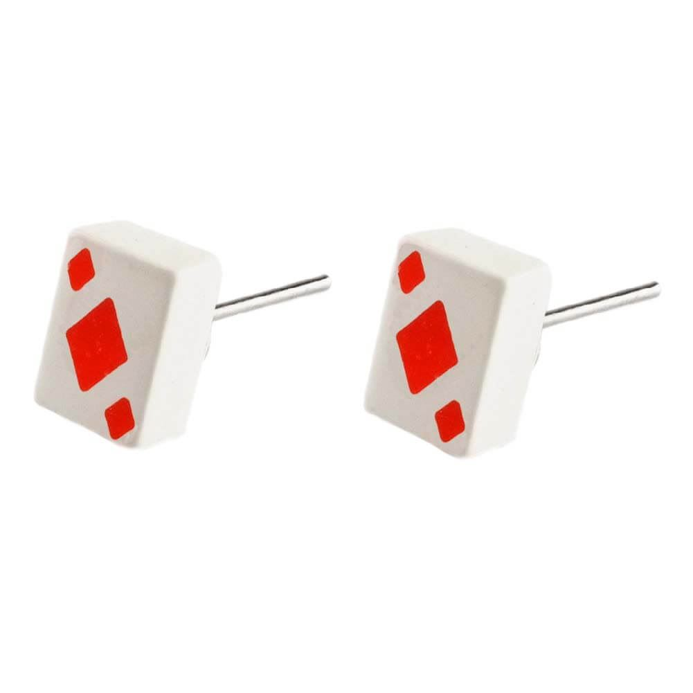 Boxed Joe Cool Nurses First Aid Doctor Zinc Alloy Safety Pin Stud Earrings
