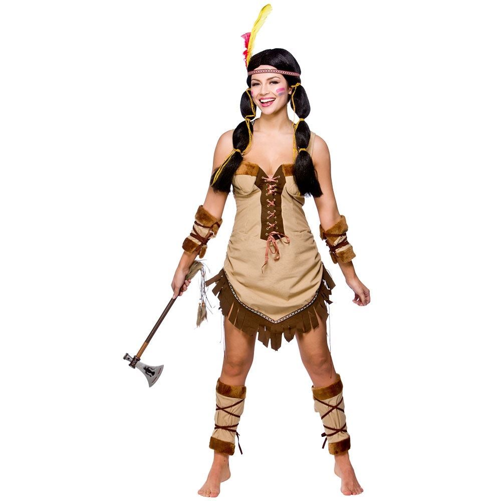 Ladies-Red-Indian-Pocahontas-Native-American-Wild-Western-  sc 1 st  eBay & Ladies Red Indian Pocahontas Native American Wild Western Fancy ...