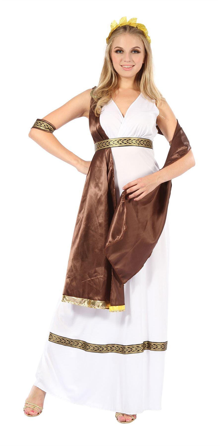 ladies men greek roman grecian goddess god toga fancy dress