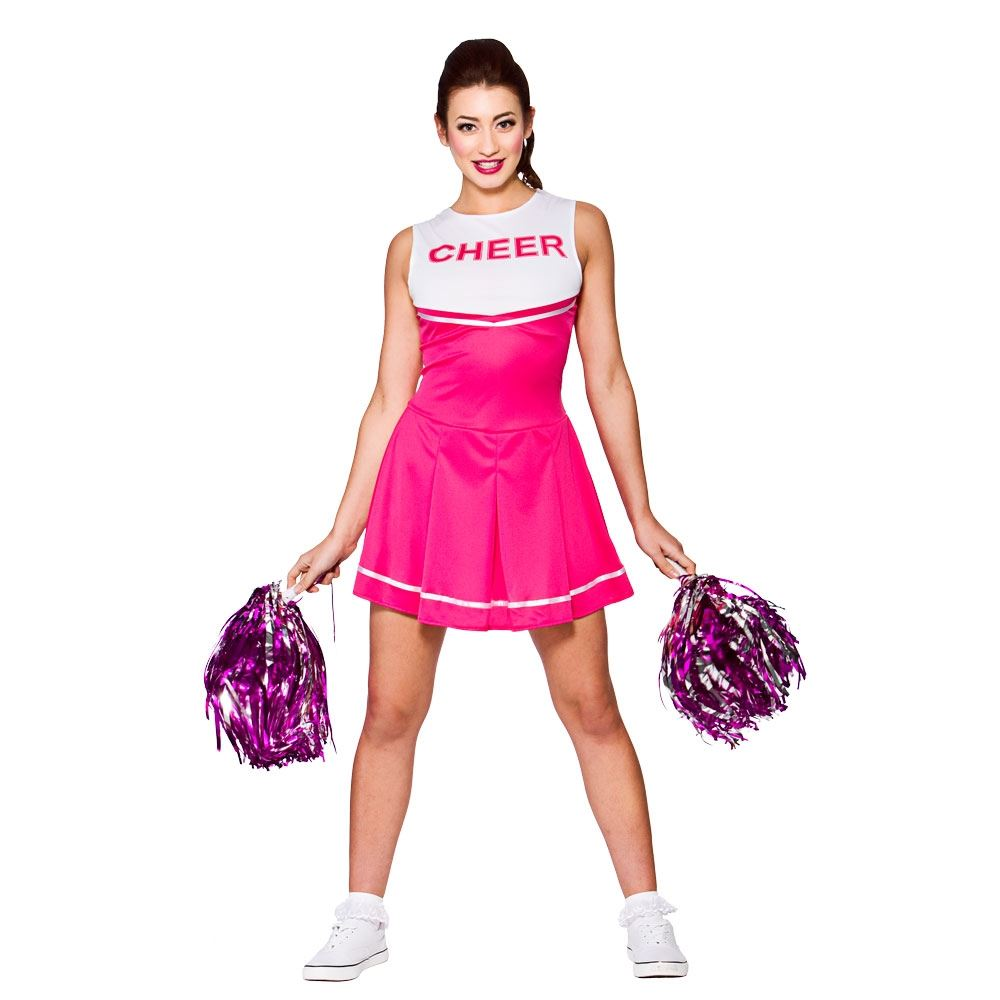 Cheerleader-Fancy-Dress-Costume-Womens-Ladies-High-School-  sc 1 st  eBay & Cheerleader Fancy Dress Costume Womens Ladies High School Prom ...