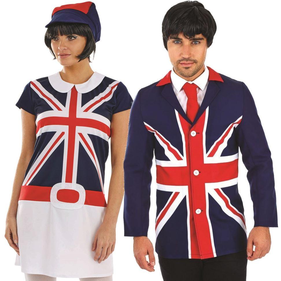 60s Adult Mens Ladies Couple MOD Fancy Dress Costume ...