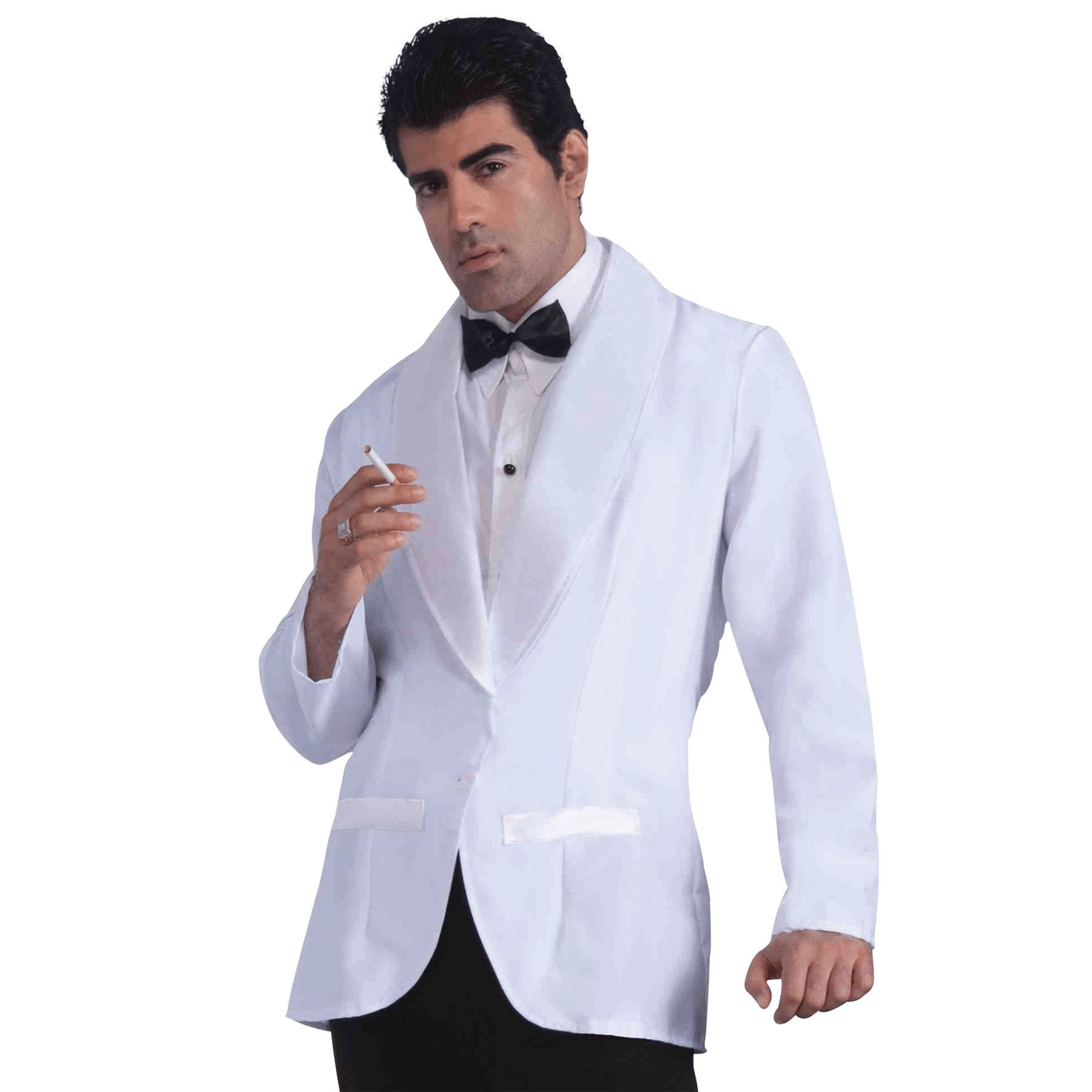 Details About Mens Formal White Jacket Fancy Dress Costume James Bond Gangster Outfit New
