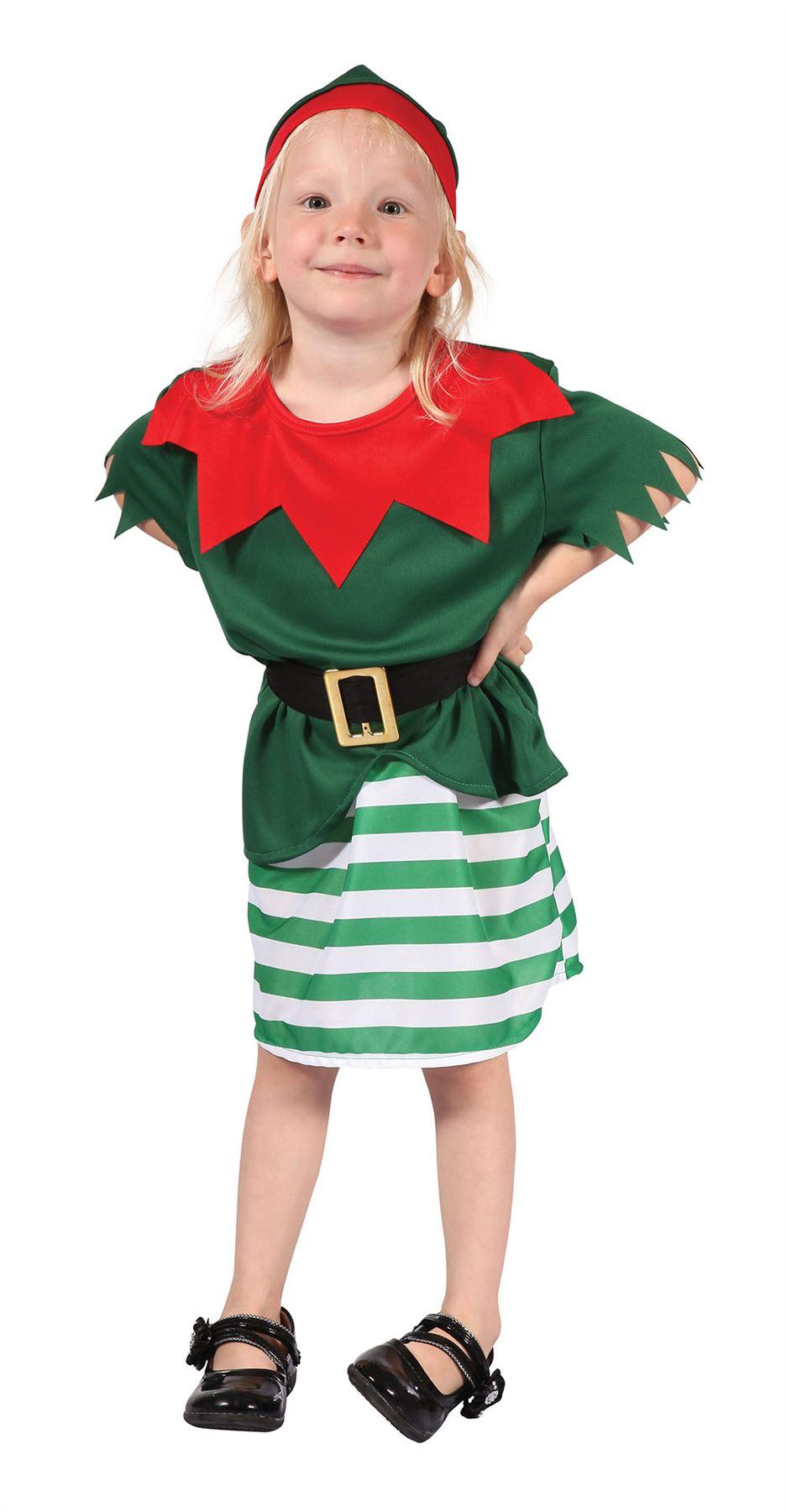 Kids-Toddler-Elf-Costume-Girls-Santas-Little-Helper-  sc 1 st  eBay & Kids Toddler Elf Costume Girls Santas Little Helper Christmas Fancy ...