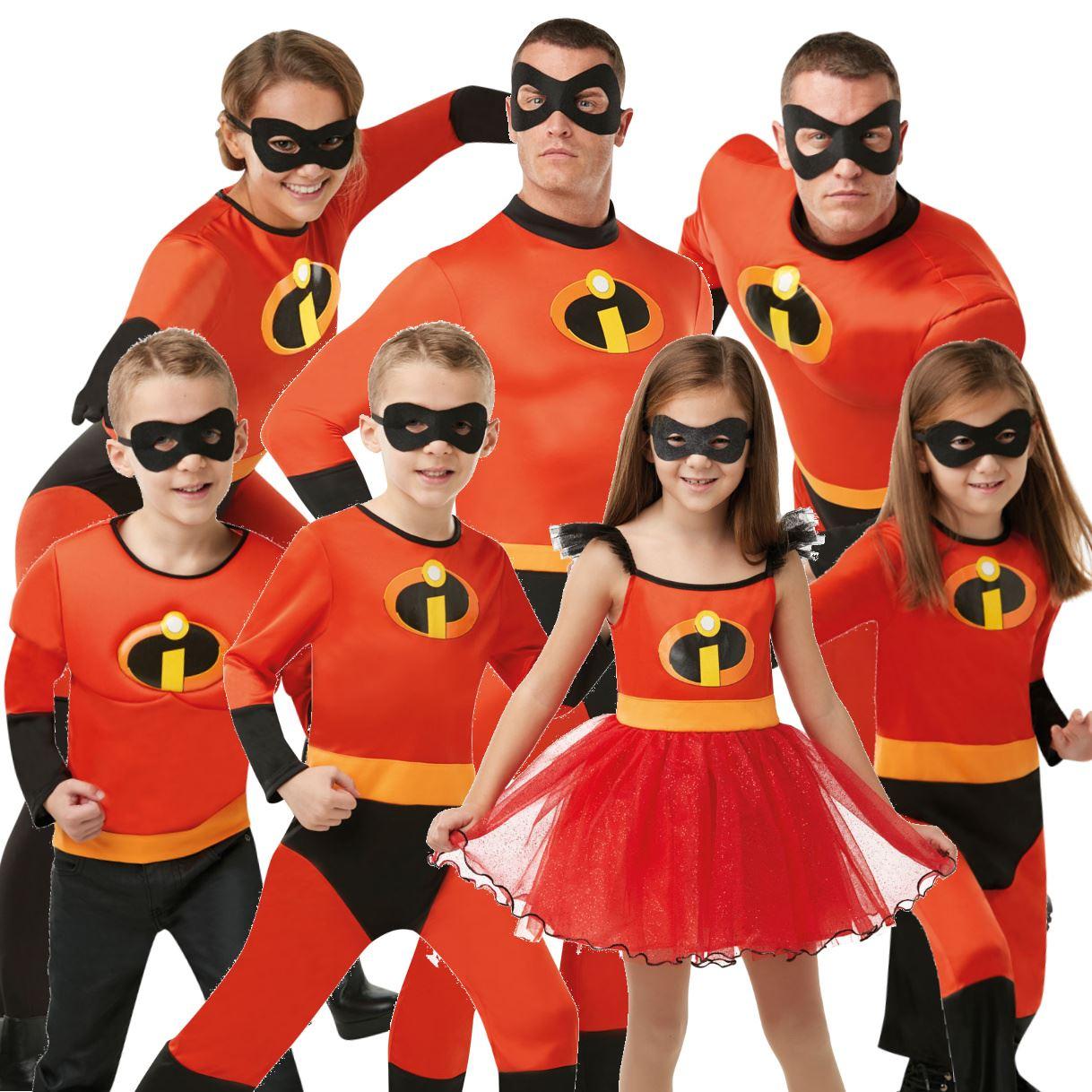 Incredibles Costume Fancy Dress Face Mask Halloween Jack Superhero Kids Disney