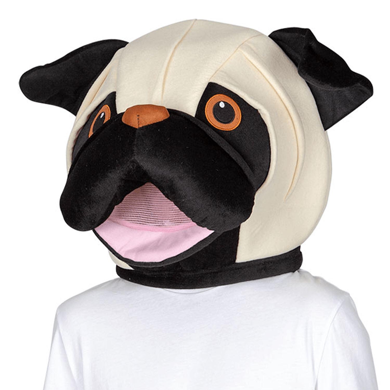 Details about Adults Pug Puppy Dog Jumbo Big Head Animal Mascot Mask Fancy  Dress Book Week