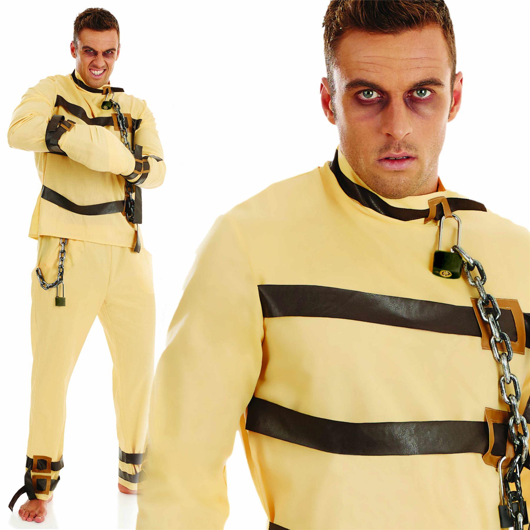 Mens Adult Hannibal Escape Artist Straight Jacket Costume ...