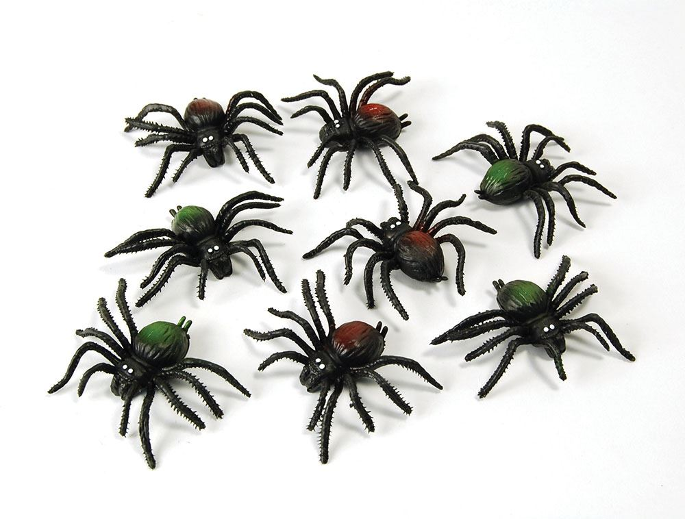 8 pack mini fake scary spiders mice rats