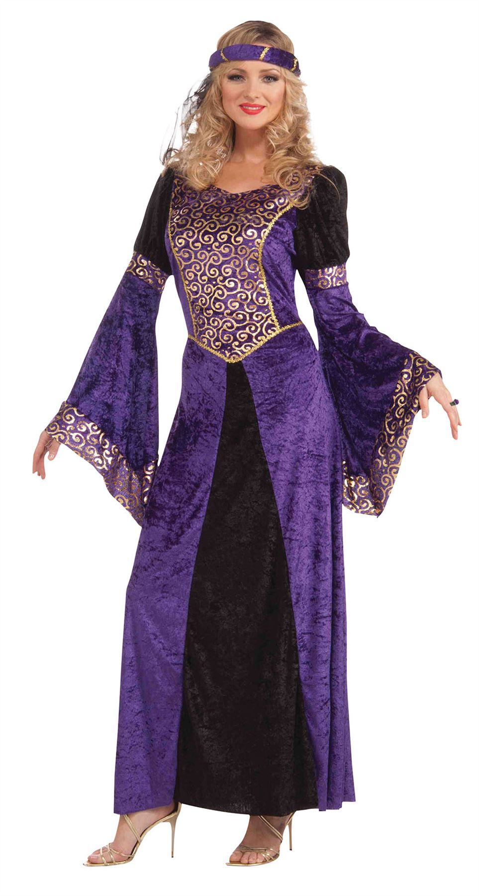 Ladies-Medieval-Maid-Costume-Adults-Robin-Hood-Marion-  sc 1 st  eBay & Ladies Medieval Maid Costume Adults Robin Hood Marion Fancy Dress ...