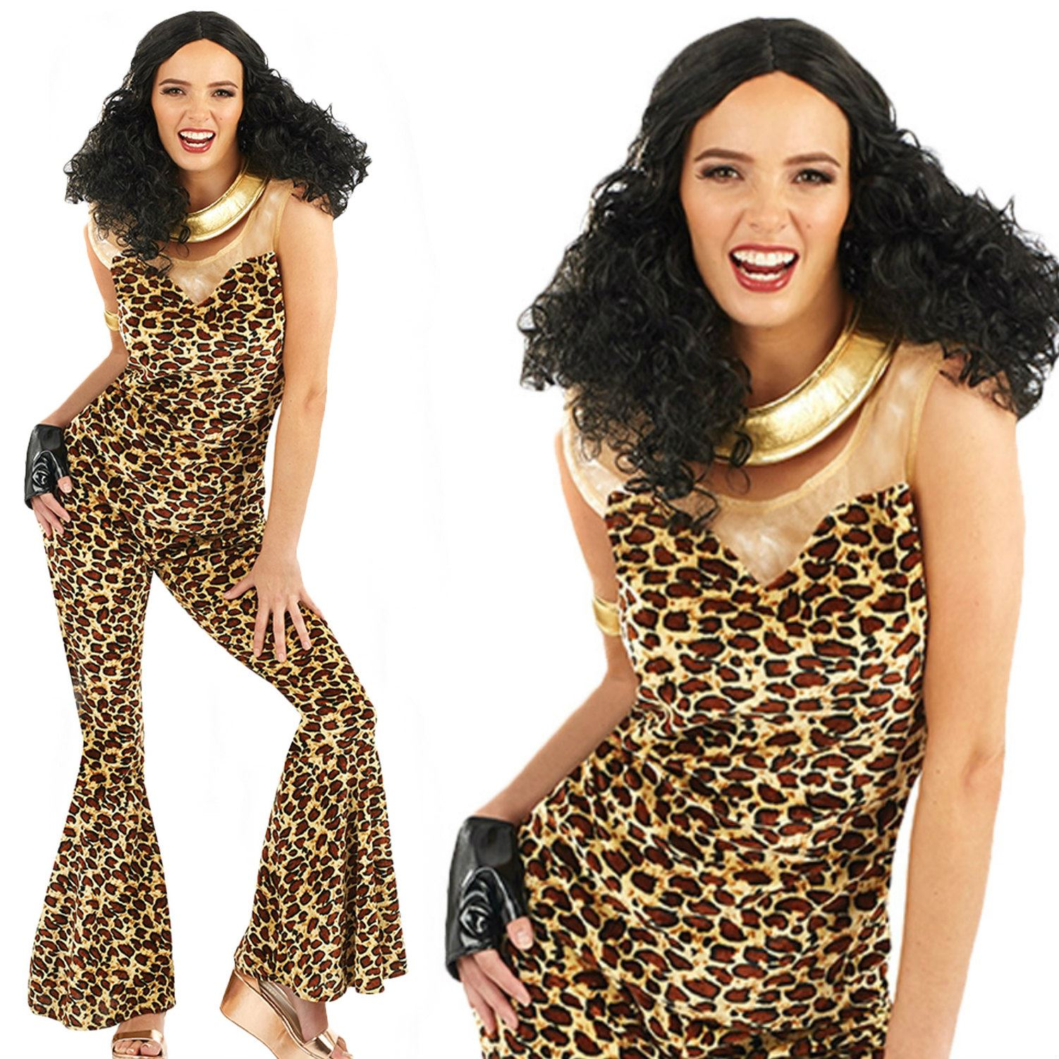 Ladies Adult 90s Pop Girl Costume Scary Spice Girls Fancy Dress