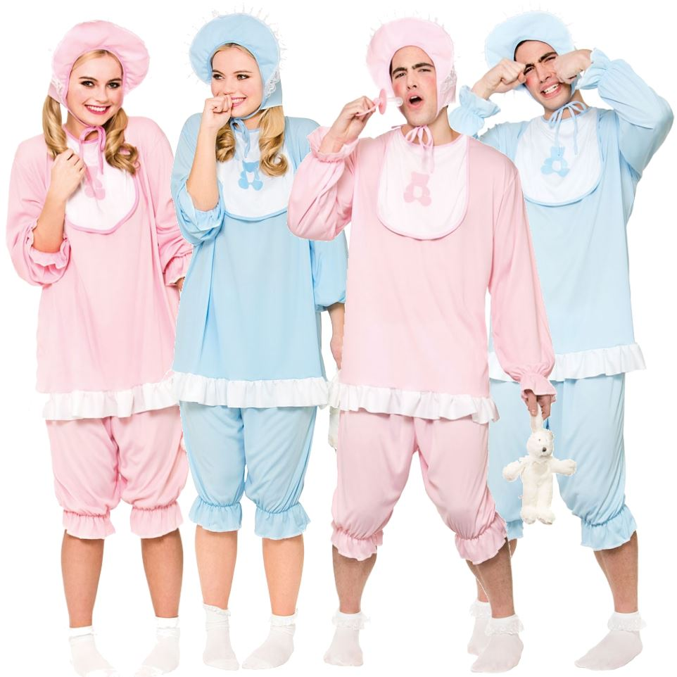 Details about Adult Big Cute Cry Baby Fancy Dress Costume Mens Ladies  Outfit Sleepsuit Romper